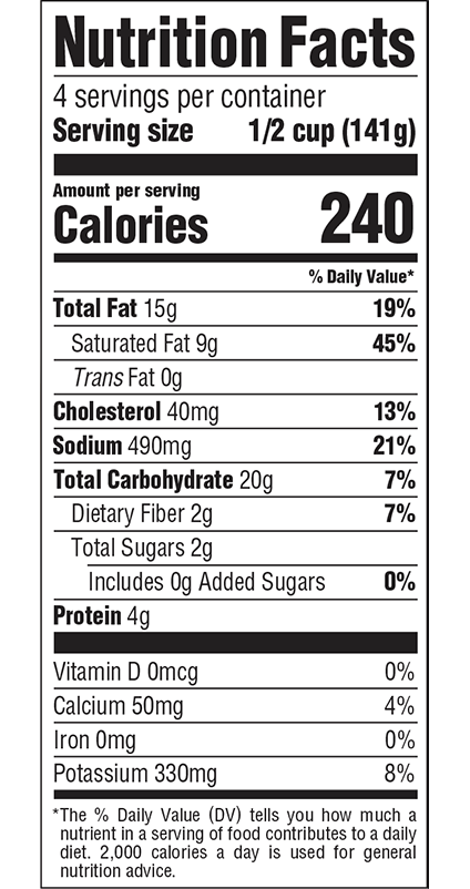 Martha Stewart Kitchen - Nutrition Facts