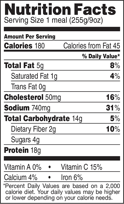 Martha Stewart Kitchen - Nutrition Facts